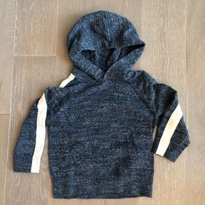 Baby Gap Blue Hooded Sweater with Striped Sleeve